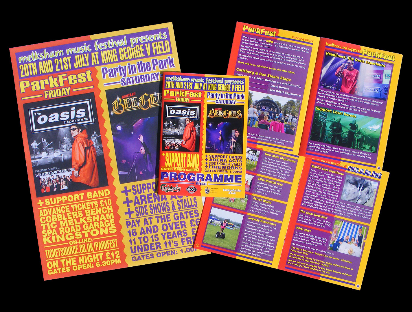 Print - 32 page Event Programme & Posters for Melksham Party-in-the-Park 2018 - Design & Artwork.